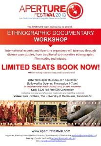 Ethnographic Documentary Workshop flyer (21 Nov 2013)