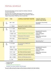 APERTURE Festival Schedule (thumbnail)